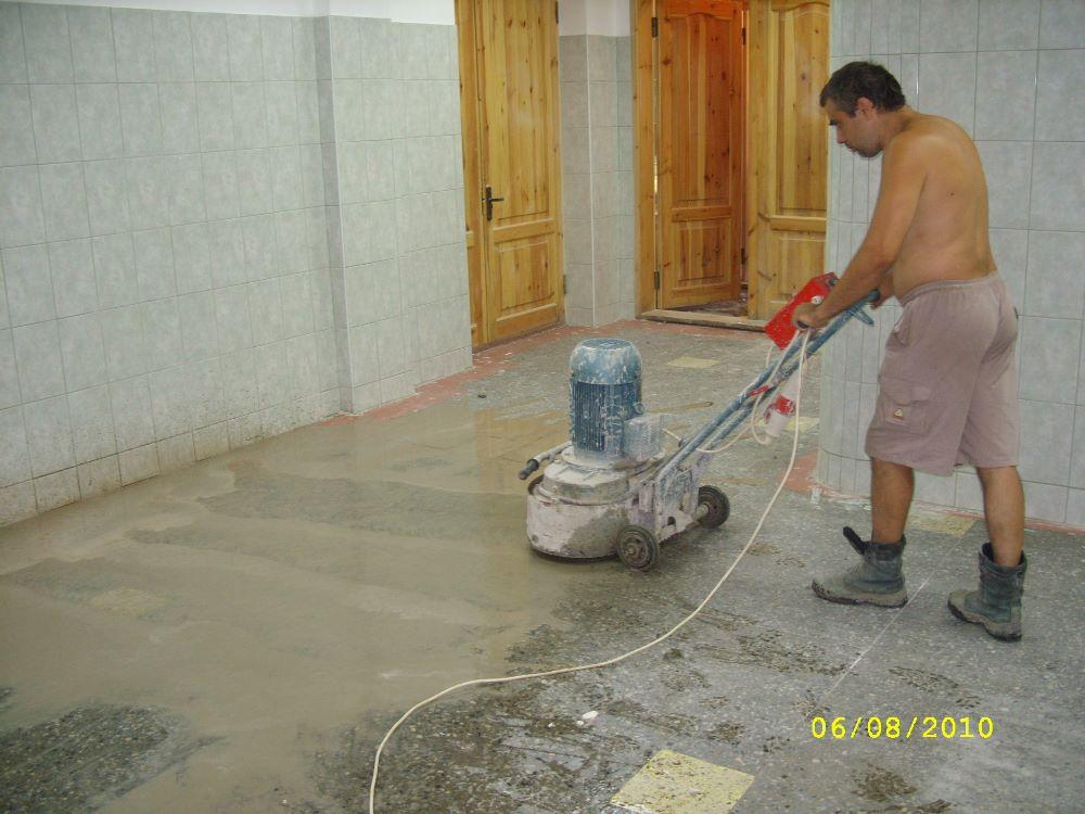 шлифовка пола бетонного цена работы